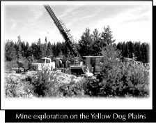 Mine exploration on the Yellow Dog Planes