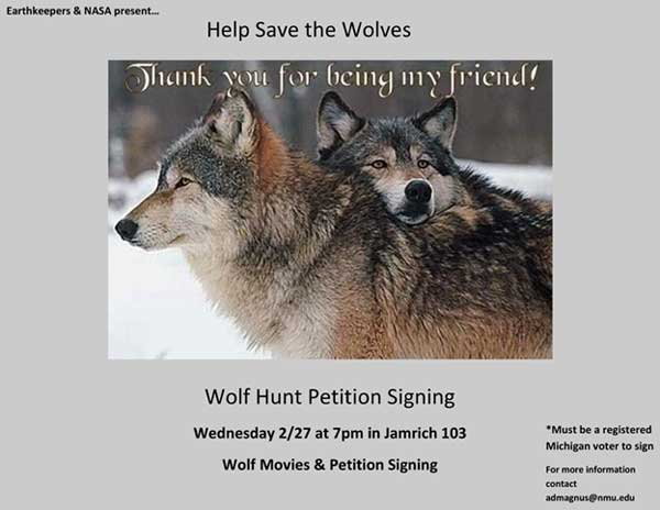 Wolf Hunt Petition Flyer